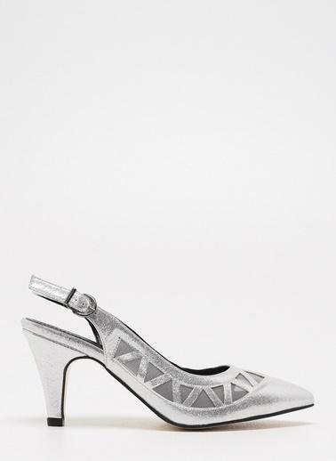 D by Divarese Klasik Ayakkabı Gümüş